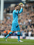 Tottenham Hotspur goalkeeper Hugo Lloris Thanks the fans at the end of the match. English Premier League match at the White Hart Lane Stadium, London. Picture date: April 30th, 2017.Pic credit should read: Robin Parker/Sportimage