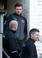 Fleetwood Town manager Joey Barton  looks on from the changing rooms before kick off<br /> <br /> Photographer David Shipman/CameraSport<br /> <br /> The EFL Sky Bet League One - Bradford City v Fleetwood Town - Saturday 9th February 2019 - Valley Parade - Bradford<br /> <br /> World Copyright &copy; 2019 CameraSport. All rights reserved. 43 Linden Ave. Countesthorpe. Leicester. England. LE8 5PG - Tel: +44 (0) 116 277 4147 - admin@camerasport.com - www.camerasport.com