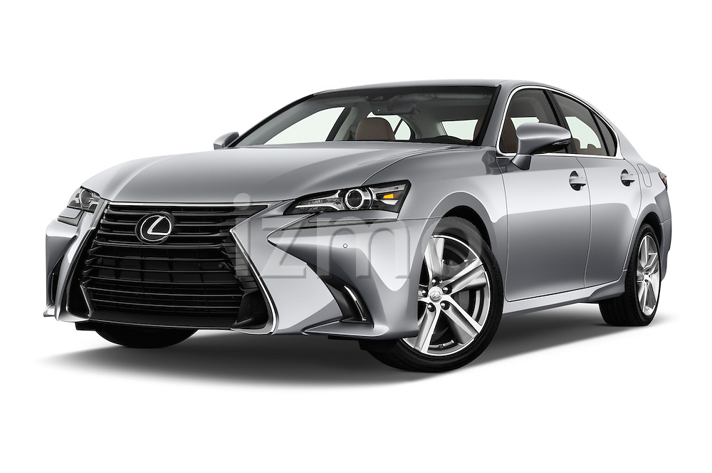 Stock pictures of low aggressive front three quarter view of 2016 Lexus GS 200t 4 Door Sedan Low Aggressive