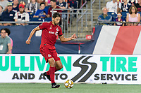 FOXBOROUGH, MA - AUGUST 31: Omar Gonzalez #44 of Toronto FC passes the ball during a game between Toronto FC and New England Revolution at Gillette Stadium on August 31, 2019 in Foxborough, Massachusetts.