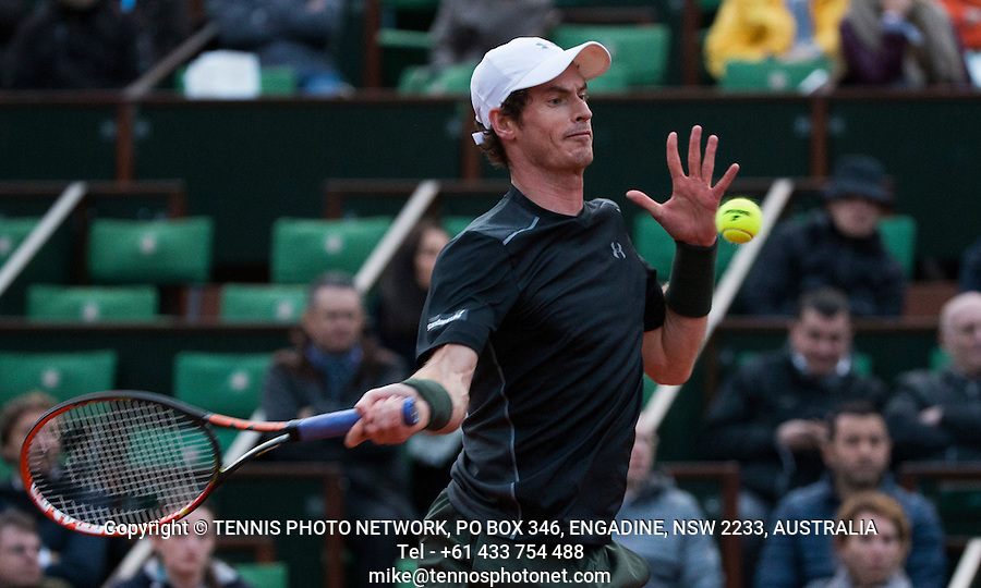 ANDY MURRAY (GBR)<br /> <br /> TENNIS - FRENCH OPEN - ROLAND GARROS - ATP - WTA - ITF - GRAND SLAM - CHAMPIONSHIPS - PARIS - FRANCE - 2016  <br /> <br /> <br /> &copy; TENNIS PHOTO NETWORK