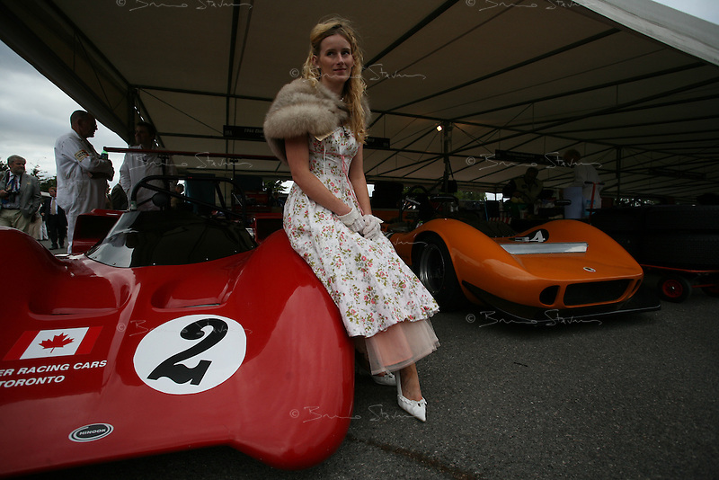 Goodwood Revival, 2007.Paddock beauty. The Goodwood revival is one of the largest historic car races events in the world; 3 days of racing at the highest level with some of the best pilots past and present driving historically important cars to the limit...and sometimes beyond! 110 000 spectators and participants gather in period costumes for a unique event.