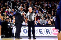 Wednesday, January 4, 2016: Georgetown Hoyas head coach John Thompson III makes a point with an offical during the NCAA basketball game between the Georgetown Hoyas and the Providence Friars held at the Dunkin Donuts Center, in Providence, Rhode Island. Providence defeats Georgetown 76-70 in regulation time. Eric Canha/CSM