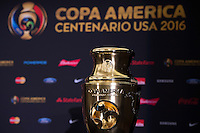 New York, NY - Friday June 24, 2016: Copa America Centenario trophy during a press conference prior to the final of the Copa America Centenario at The Westin New York at Times Square.<br /> <br /> Photo during American Cup USA 2016 Press Conference The Westin New York at Times Square --- Foto durante la Conferencia de Prensa previo a la Gran Final de la Copa America Centenario USA 2016, enla foto:  Trofeo<br /> ---24/06/2016/MEXSPORT/ Jorge Martinez.