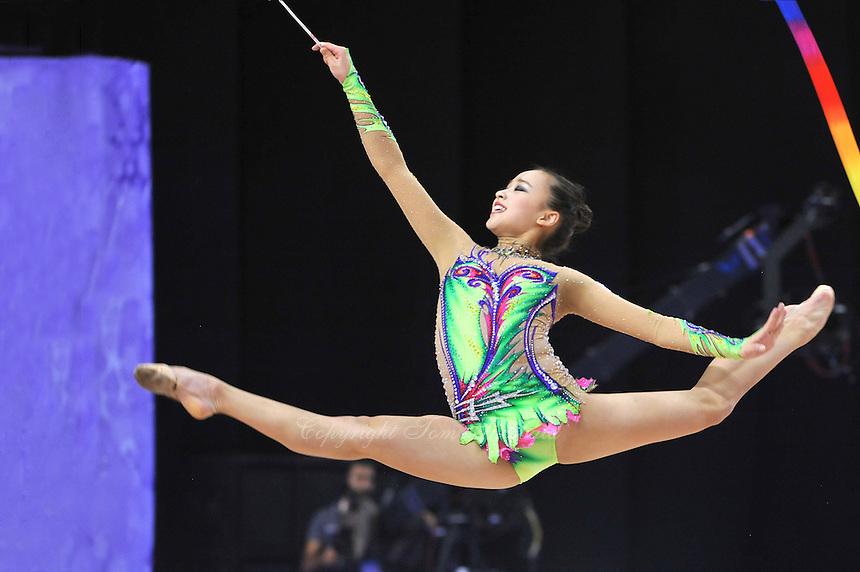 September 25, 2014 - Izmir, Turkey -  SON YEON-Jae of South Korea performs at 2014 World Championships.