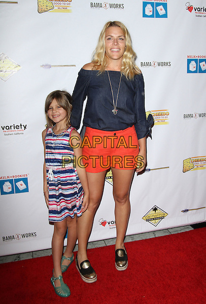 17 April 2016 - Los Angeles, California - Busy Philipps with daughter Birdie Leigh Silverstein. Milk + Bookies 7th Annual Story Time Celebration held at the California Market Center. Photo Credit: AdMedia<br /> CAP/ADM<br /> &copy;ADM/Capital Pictures