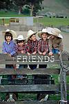 Cowboy cousins, Garcia Ranch, San Luis Obispo, California.(Bode, Cash, Peyton, Evan, Ethan)