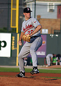 August 13, 2003:  Willie Eyre of the New Britain Rock Cats, Class-AA affiliate of the Minnesota Twins, during a Eastern League game at Jerry Uht Park in Erie, PA.  Photo by:  Mike Janes/Four Seam Images