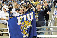 26 December 2010:  Fans cheer on their team in the second half as the FIU Golden Panthers defeated the University of Toledo Rockets, 34-32, to win the 2010 Little Caesars Pizza Bowl at Ford Field in Detroit, Michigan.