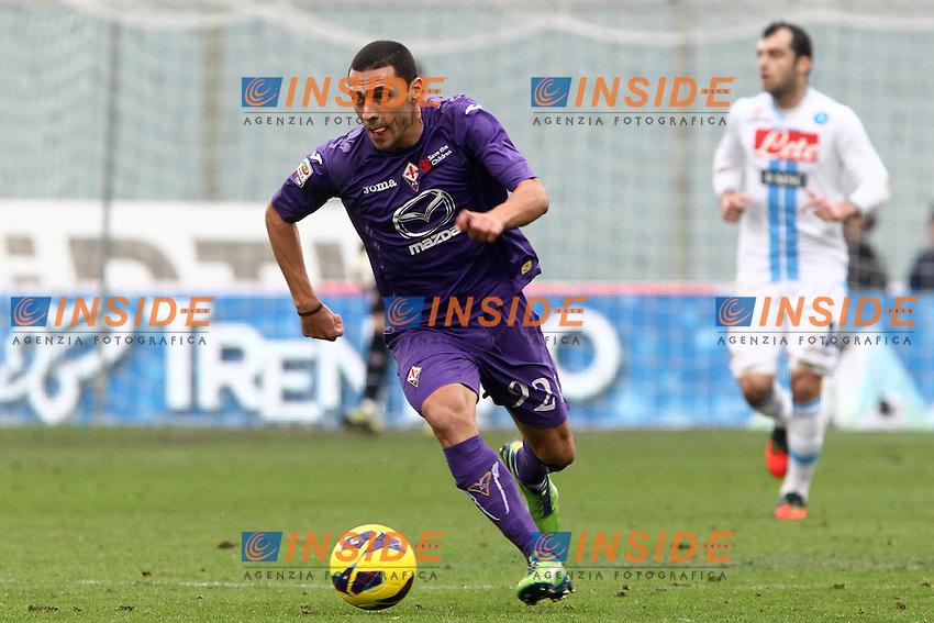 """Orestes Romulo Fiorentina.Firenze 20/01/2013 Stadio """"Franchi"""".Football Calcio Serie A 2012/13.Fiorentina v Napoli.Foto Insidefoto Paolo Nucci."""