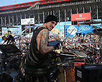 03/17/19 Fontana, CA:  Frank Zummo and Sum 41 perform before the Auto Club 400