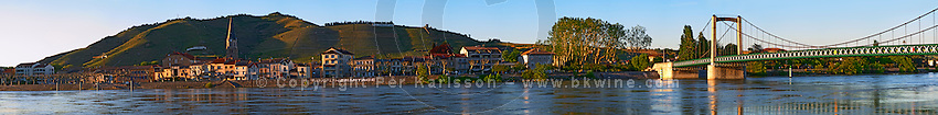 panorama hill tain l hermitage rhone france