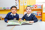 Tiago Pirez-O'Carroll and Aaryan Girish Nair new arrivals in junior infants at Caherlaheen NS on Tuesday