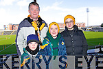 Teddy Muldoon, Pat O'Mahony Jamie Muldoon and David O'Mahony all from Killarney pictured at the All Ireland semi-final of Dr Crokes v Castlebar on Saturday in Portlaoise.