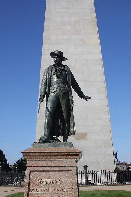Statue of Col. William Prescott, Bunker Hill Monument, Charlestown, MA