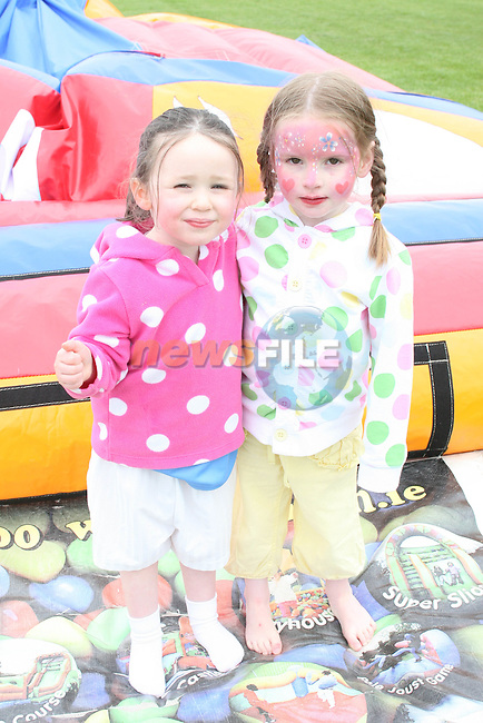 Caqrla Kierans and Eabha Clarke at the Newtown Blues Sports Day...Photo NEWSFILE/Jenny Matthews.(Photo credit should read Jenny Matthews/NEWSFILE)....This Picture has been sent you under the condtions enclosed by:.Newsfile Ltd..The Studio,.Millmount Abbey,.Drogheda,.Co Meath..Ireland..Tel: +353(0)41-9871240.Fax: +353(0)41-9871260.GSM: +353(0)86-2500958.email: pictures@newsfile.ie.www.newsfile.ie.FTP: 193.120.102.198.