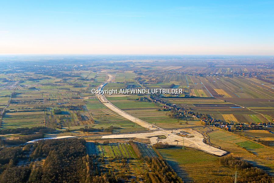 Autobahnbaustelle A26 bei Neu Wulmsdorf: EUROPA, DEUTSCHLAND, NIEDERSACHSEN, NEU WULMSDORF (EUROPE, GERMANY), 06.01.2017: Autobahnbaustelle A26 bei Neu Wulmsdorf