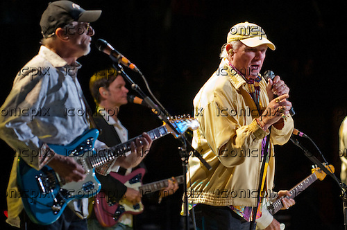 THE BEACH BOYS - David Marks and Mike Love performing live at Verizon Wireless Amphitheatre in Irvine, CA USA - June 3, 2012.  Photo: © Kevin Estrada / Iconicpix