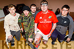 Nathan Comerford, Dáire McGovern, Donald Walsh, Gavin Godfrey and Eoin Buckley at the Tralee Branch of the Irish Red Cross's Halloween party fundraiser for Temple Street Hospital in the KDL on Monday night.