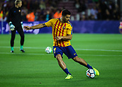 9th September 2017, Camp Nou, Barcelona, Spain; La Liga football, Barcelona versus Espanyol; Luis Suarez during warm-up