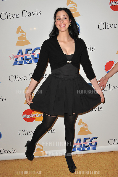 Sarah Silverman at the 2011 Clive Davis pre-Grammy party at the Beverly Hilton Hotel..February 12, 2011  Beverly Hills, CA.Picture: Paul Smith / Featureflash