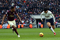 Isaac Hayden of Newcastle United and Son Heung-Min of Tottenham Hotspur during Tottenham Hotspur vs Newcastle United, Premier League Football at Wembley Stadium on 2nd February 2019