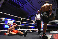 Ellis Zorro (black shorts) defeats Pawel Strykowski during a Boxing Show at York Hall on 29th June 2019