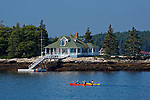 Kayaks, Southport, Maine, USA