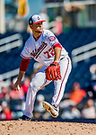 2 March 2019: Washington Nationals top prospect pitcher Wil Crowe on the mound during a Spring Training game against the Minnesota Twins at the Ballpark of the Palm Beaches in West Palm Beach, Florida. The Nationals defeated the Twins 10-6 in Grapefruit League play. Mandatory Credit: Ed Wolfstein Photo *** RAW (NEF) Image File Available ***