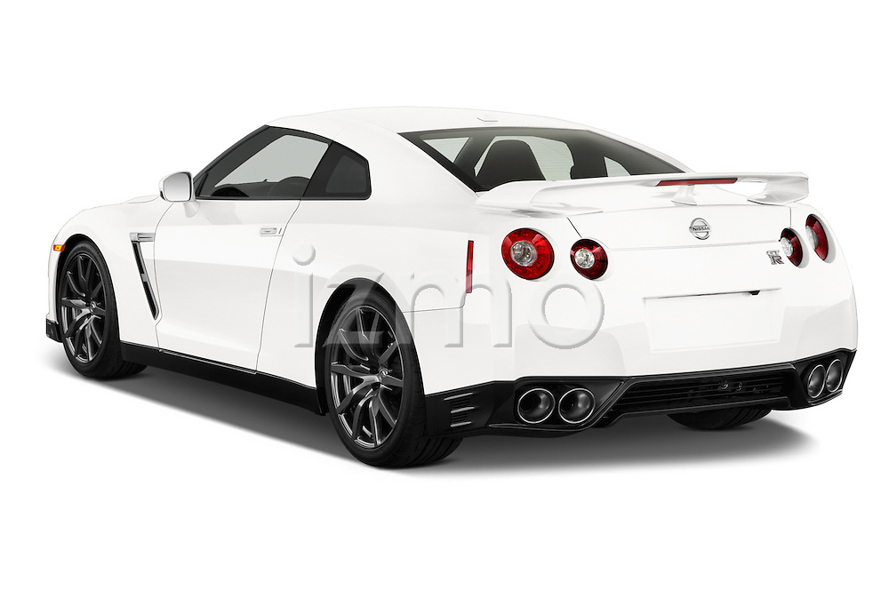 Rear three quarter view of a 2014 Nissan GTR Coupe