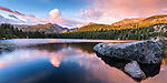 dawn at Bear Lake on a summer morning in Rocky Mountain National Park, Colorado, USA