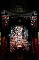 LOS ANGELES - OCT 24: 3d mapping outside the TCL Chinese Theatre IMAX at The Estate of Michael Jackson and Sony Music present Michael Jackson Scream Halloween Takeover at TCL Chinese Theatre IMAX on October 24, 2017 in Los Angeles, California