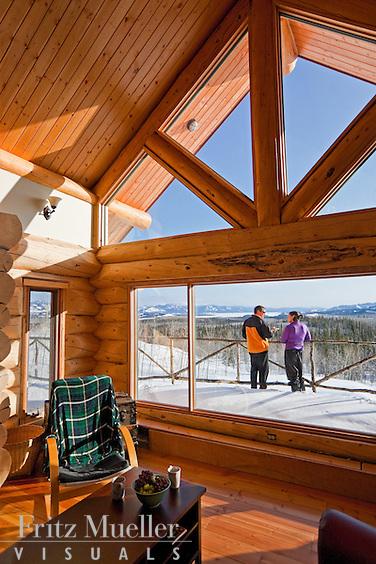 Winter retreat at Fox Creek Wilderness Bed and Breakfast near Lake Laberge, Whitehorse, Yukon