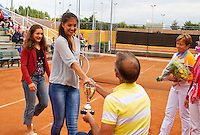 10-08-13, Netherlands, Rotterdam,  TV Victoria, Tennis, NJK 2013, National Junior Tennis Championships 2013,  Prize giving<br /> <br /> Photo: Henk Koster