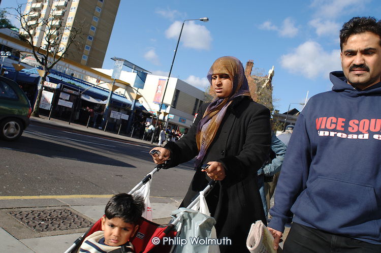 Shoppers on Kilburn High Road, London.