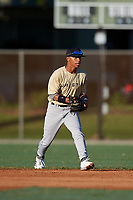 Massai Dorsey during the WWBA World Championship at the Roger Dean Complex on October 19, 2018 in Jupiter, Florida.  Massai Dorsey is a shortstop from Studio City, California who attends Birmingham High School.  (Mike Janes/Four Seam Images)