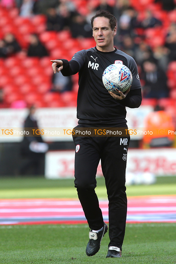 Barnsley 1st Team Head Coach, Matt Rose during Charlton Athletic vs Barnsley, Sky Bet EFL Championship Football at The Valley on 1st February 2020