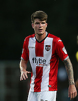 Liam McAlinden of Exeter City during the The Checkatrade Trophy match between Oxford United and Exeter City at the Kassam Stadium, Oxford, England on 30 August 2016. Photo by Andy Rowland / PRiME Media Images.