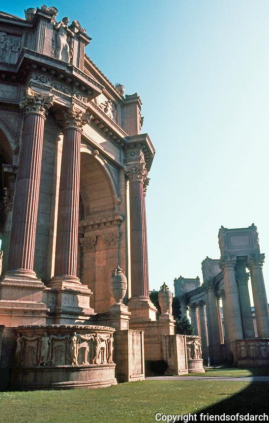 Bernard Maybeck: Palace of Fine Arts, San Francisco. Photo '83.