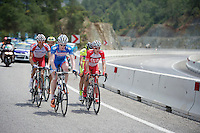 Frederik Backaert (BEL/Wanty-Groupe Gobert) &amp; Adam Phelan (AUS/Drapac) among the 5 riders breakaway (for the day)<br /> <br /> Tour of Turkey 2014<br /> stage 4