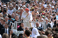 Pope Benedict XVI during his weekly general audience in St. Peter square at the Vatican, Wednesday.7 September, 2011