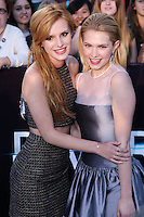 "WESTWOOD, LOS ANGELES, CA, USA - MARCH 18: Bella Thorne, Claudia Lee at the World Premiere Of Summit Entertainment's ""Divergent"" held at the Regency Bruin Theatre on March 18, 2014 in Westwood, Los Angeles, California, United States. (Photo by David Acosta/Celebrity Monitor)"