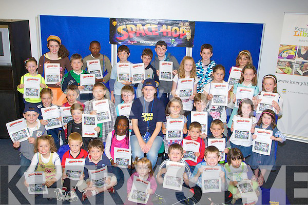 SPACE; Children from around Kerry who were presented with their certificates and goody bags for taken in the art and reading competition from the 9 Library in Kerry over the summer holidays...