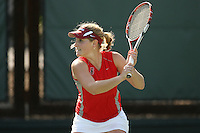 STANFORD, CA - FEBRUARY 19:  Logan Hansen of the Stanford Cardinal during Stanford's 8-5 win over the St. Mary's Gaels on February 19, 2009 at the Taube Family Tennis Stadium in Stanford, California.