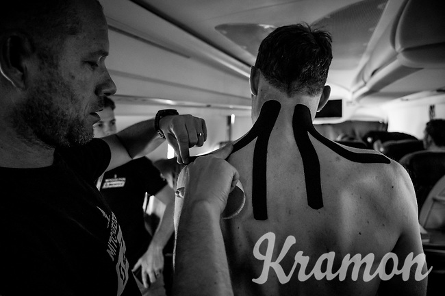 on the Mitchelton-Scott teambus<br /> <br /> Stage 12: Cuneo to Pinerolo (158km)<br /> 102nd Giro d'Italia 2019<br /> <br /> ©kramon