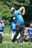 Bethesda, MD - June 25, 2016:  Charley Hoffman (USA) tee shot during Round 3 of professional play at the Quicken Loans National Tournament at the Congressional Country Club in Bethesda, MD, June 25, 2016.  (Photo by Elliott Brown/Media Images International)