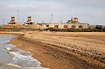 Military defences from Napoleonic war and two world wars at Landguard Fort, Felixstowe, Suffolk, England