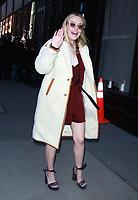 Dakota Fanning Seen In NYC