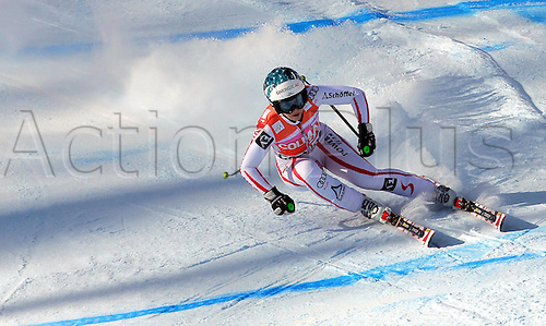 22.01.2011 FIS Downhill Ski World Cup from Cortina in Italy. Picture shows Christina Staudinger AUT