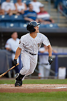 Staten Island Yankees Josh Smith (26) at bat during a NY-Penn League game against the Aberdeen Ironbirds on August 22, 2019 at Richmond County Bank Ballpark in Staten Island, New York.  Aberdeen defeated Staten Island in a rain shortened game.  (Mike Janes/Four Seam Images)